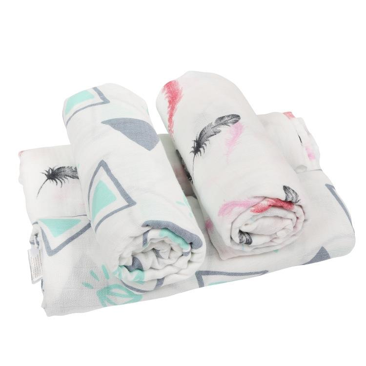 Custom 100% Bamboo Baby Digital Printed Wraps Swaddles Blankets
